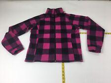 COLUMBIA 18/20 Youth Benton Springs™ Pink Check Zip Front Fleece Jacket