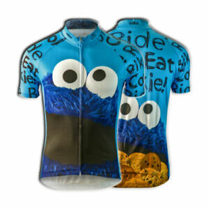 COOKIE MONSTER Team Cycling Jersey Retro Short Sleeve Bike Road Pro Clothing