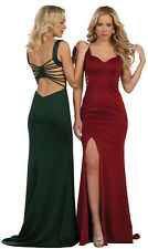 SIMPLE SEXY RED CARPET EVENING GOWN STRETCHY FITTED SEMI FORMAL PROM PARTY DRESS