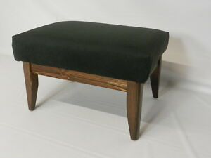 Yorkshire Suede Footstools with Solid Wood Frame (Available in 4 Colors) Free US