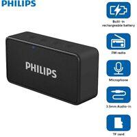 New Genuine Philips BT64B Portable Bluetooth Speakers with FM radio (Black)