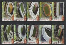 SOUTH AFRICA 2010 WORLD CUP STADIUMS COMPLETE POSTALLY USED Sc#1414 a-j 1494