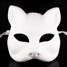 Gato Cat Blank Masquerade Mask - Venetian Cosplay Costume Party DIY Mask W7340