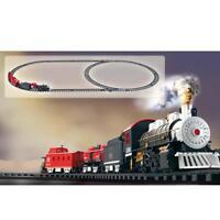 Smoke Railway Car Train Set Kids Educational Toys Battery Operated Xmas Gift a