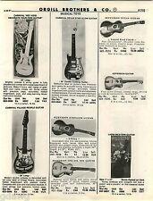 1981 ADVERT Village People Toy Carnival Brand Guitar Jefferson Galaxy Emenee