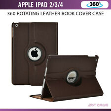 Smart Stand Leather Magnetic 360 Case Cover For Apple iPad 2/3/4