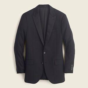 New JCREW $525 Size 42 S Ludlow Slim-fit Tuxedo Jacket in Italian Wool Black