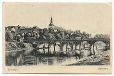 Latvia.1917 Postcard  WW1.  VALMIERA  BRIDGE  USED 14.02.1917.