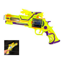 Electronic Weapon Cowboy Style Space Gun Toy with Sound and Led Flashing Lights