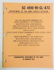 Vintage 1970 Department of the Army Supply Catalog Sets Kits Shop Equipment List