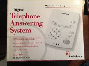 RADIO SHACK DIGITAL TELEPHONE ANSWERING SYSTEM  43-3801 DOVE GRAY NEW UNOPENED