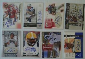 New England Patriots 8 Card Lot Auto Autograph Ben Watson + Richard Seymour +