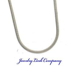 """14K Solid White Gold Round Snake Chain 1mm Italian Made 24"""" 5.4grams"""