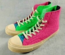 d3ea629ad5f5 Converse x JW Anderson Felt Chuck 70 High Top Multi-Color Pink Green Blue  8.5