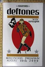 2000 Rock Concert Poster Deftones Glass Jaw Mike Murphy SN LE 200 Palladium