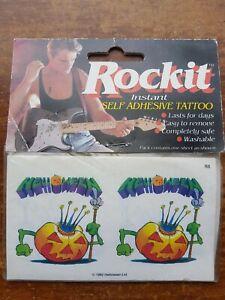 Rare Vintage Helloween Temporary Tattoos Rockit Metal Memorabilia