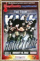 KISS & MOTLEY CRUE 2012 Gig POSTER Ridgefield Washington Gene Simmons Concert