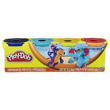 Play-Doh 4-Pack of Party Colors 20 oz. Purple, Aqua, Orange and Pink Playdoh