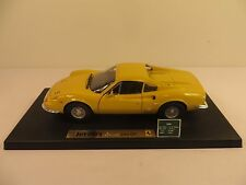 Anson Metal Series 1:18 die cast Ferrari Dino 246GT Rare Yellow #30301-W Car