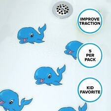 Whale Tub Tattoos (5 Per Pack): Blue Appliques by SlipX Solutions