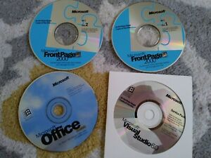 Microsoft Visual Studio 6.0  Service Pack,Office Standard,Front Page 2000 CD