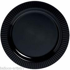 40 Luxe Premium fête de mariage en plastique noir 19cm grandes plaques