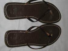 Walt Disney Ladies Thong Flip Flops Gold Ocean Beach Cruise Summer Shoes 9 10 11