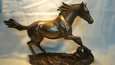 NEW Wildlife Horse Cantering On The Grassland Statue Figures Sculpture Bronze