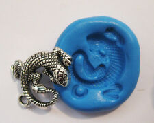 Lizard Silicone Push Mold Polymer clay Resin Miniature plaster fondant mould wax
