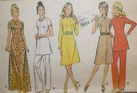 Vintage 1970s McCall's 3044 MOD Dress Tunic & Pants Pattern 36B sz 14