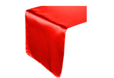 Bursting Red Satin Fabric Table Runner Wedding Party Decoration Chair Sash Tie