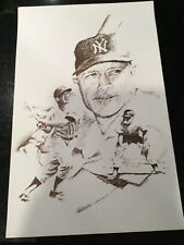 MICKEY MANTLE LITHOGRAPH UNSIGNED 11x17. BEAUTY