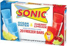 Juicy Juice Sonic Freezer Bars Ice Pops 1.5oz (42.5g) Pack of 20