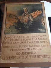 WW1 ORIGINAL  POSTER FRENCH