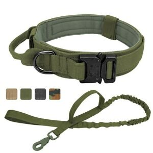 Military Tactical Army Dog Collar Leash For Walking or Training Dogs