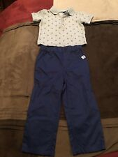 Crown & Ivy Baby Boy Polo Short And Pants Set Size 18 Months New!