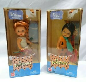 2003 The Flintstones Kelly Dolls Wilma & Fred Mattel