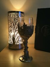More details for lord of the rings royal selangor pewter/clear and frosted glass city of tiron