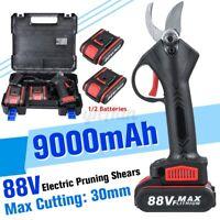 30mm 88V Cordless Electric Pruning Shears Secateur Branch Cutter Scissor Garden