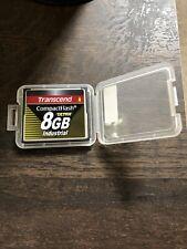 TRANSCEND COMPACT FLASH CARD ULTRA 8GB INDUSTRIAL GRADE