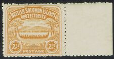 BRITSH SOLOMON ISLANDS 1907 LARGE CANOE 21/2D STAMP  MNH **