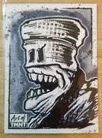 TOPPS ART OF TEENAGE MUTANT NINJA TURTLES 1/1 SKETCH CARD * B&W SHREDER CLONE*