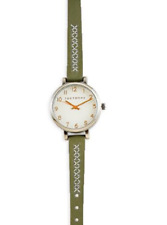 TOKYOBAY Carina WATCH Olive LEATHER BAND NEVER WORN NWT