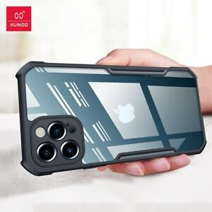 Cases For iPhone 11 12 Case Shockproof Protective Phone Bumper Cover Shell Black