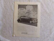 JAGUAR MARK V II SALOON 1951 XK 120 POSTER ADVERT READY FRAME A4 SIZE