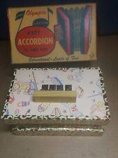 Vintage Antique Olympia Klee-Tone 4 Key Accordion Kiddie Tunes US Zone Germany