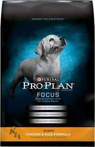 Purina Pro Plan FOCUS Puppy Chicken & Rice Formula Dry Dog Food, 34-Pounds (NEW)