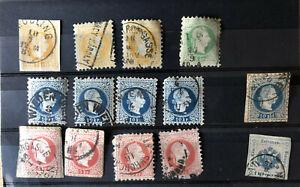 Österreich Briefmarken Kaiser Franz Joseph I gestempelt