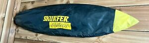 Vintage Yellow Skurfer Launch Wakeboard /Surfboard - excellent condition w/ bag