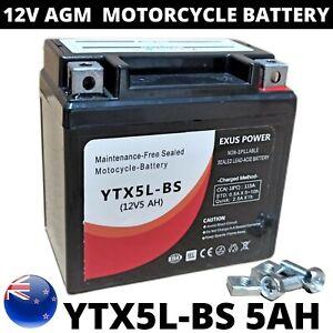 12V 5AH AGM Motorcycle Start Battery CCA GEL Sealed Bike ATS YTX5L-BS RTX5L-BS